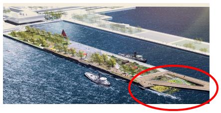 Design Artist Rendering of Floating Wetland Project